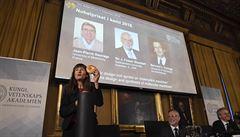 Nobelova cena za chemii byla udělena za výzkum 'molekulárních strojů'