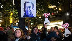 Vzpomínání na Havla vyvrcholilo koncertem na Václavském náměstí. Na akci se lidé složili