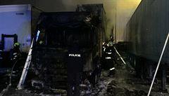 Na Brněnsku hořely hala a kamion, škoda je 15 milionů korun