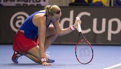 Kvitová padla ve dvou setech s Garciaovou. Finále Fed Cupu je srovnané 1:1
