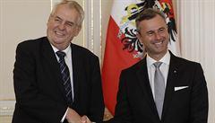Chceme unii v rámci unie, shodli se Zeman a populista Hofer