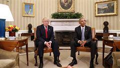 Prezident Obama přijal svého nástupce Trumpa v Bílém domě, slíbil mu podporu