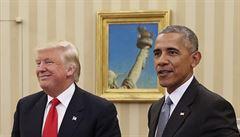 'Miluji jeho nápady.' Trump s Obamou konzultuje obsazení svého kabinetu