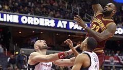 NBA: Vítěznou sérii Washingtonu utnuli až obhájci titulu z Clevelandu