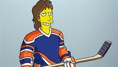 Simpsonovi získali legendu NHL. Gretzky namluvil vlastní animovanou postavu