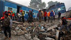 Železniční neštěstí v Indii má již 133 obětí a 76 těžce zraněných