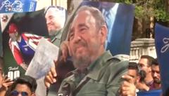 Kubánští studenti truchlí za milovaného vůdce