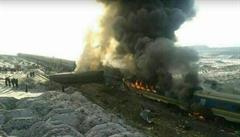 V Íránu se srazily vlaky, v plamenech zemřelo nejméně 31 pasažérů