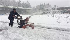 Sněhová kalamita nepustí fotbalisty na hřiště. V Jablonci se bude hrát až na jaře