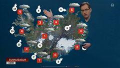 Moderátor počasí tělem zakrýval východ Islandu, lidé si stěžovali