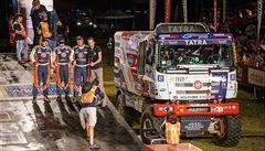 České kamiony ovládly úvod Rallye Dakar: Kolomý první etapu vyhrál, Loprais čtvrtý