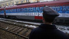 Vlak vyostřil situaci. Budeme bránit své území, varuje Kosovo srbský prezident