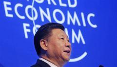 Čínský prezident hájil globalizaci a volný obchod, projevem prý cílil na Trumpa
