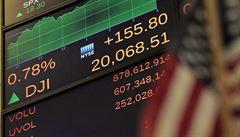 Trhy Trumpovi věří. Dow Jonesův index poprvé uzavřel nad hranicí 20 tisíc bodů