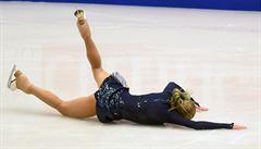 Češka Hanzlíková v krátkém programu na MS třikrát spadla a je poslední
