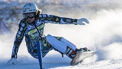 Ledecká zářila tentokrát na snowboardu. V Rogle vyhrála paralelní obří slalom