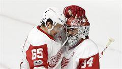 NHL: Čeští brankáři Mrázek s Neuvirthem zářili, Pastrňákovy góly Bostonu nestačily