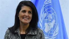 Americká velvyslankyně při OSN Haleyová skončí koncem roku ve funkci