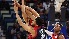 NBA: Zbytek světa zdolal výběr USA. V utkání hvězd se představili nováčci