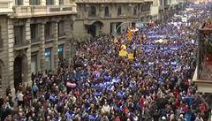 Do ulic Barcelony vyšlo 160 tisíc protestujících, chtějí přijmout více migrantů
