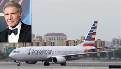 Harrison Ford při přistání popletl dráhy. Přeletěl těsně nad Boeingem 737 plným cestujících
