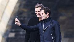 Legendární Federer je v Praze. 'Kamarádi mi tuhle návštěvu závidí,' řekl Švýcar