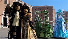 Na benátském karnevalu sestoupil anděl z nebes