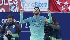 Messi zajistil Barceloně výhru ve šlágru s Atlétikem, Real otočil zápas ze stavu 0:2