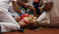 VIDEO: Rosolová ošklivě upadla. Je hodně potlučená, ale bez vážnějšího zranění