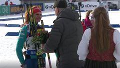 Koukalová nepodala ruku šéfu biatlonové unie: 'Ten člověk tam nemá co dělat'