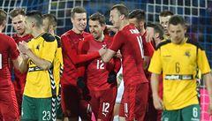 Češi ve druhém poločase smetli třemi góly Litvu. Trefil se také nováček Jankto