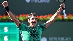 Federer slaví devadesátý titul v kariéře. Zvítězil na turnaji v Indian Wells