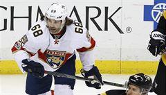 NHL: Florida zvítězila nad Chicagem 7:0, zraněný Jágr zápas nedohrál