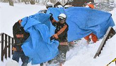 V Japonsku zemřelo v lavině osm studentů na školním výcviku