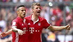 Bayern je popáté v řadě německým mistrem, rozstřílel Wolfsburg 6:0