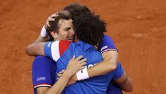 Tenisté Francie a Srbska jsou už po čtyřhře v semifinále Davis Cupu