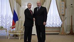 Putin a Lukašenko se prý dohodli na zlepšení vztahů. Jednali hodinu po útoku