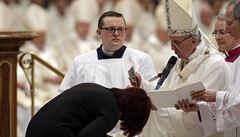 Papež osobně pokřtil Češku. Poprvé v novodobé historii