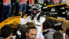 Fin Bottas vyjede poprvé z pole position. Překvapivě ovládl kvalifikaci v Bahrajnu