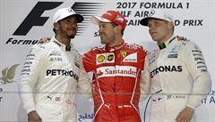 Vettel vyhrál i druhý závod sezony. Odolal finiši Bottase, Hamilton skončil třetí