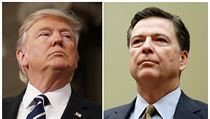 Prezident Trump a ředitel FBI James Comey.