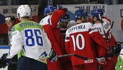 Čtvrté vítězství v řadě. Čeští hokejisté zničili na MS pěti góly Slovince