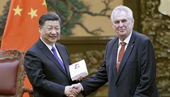 Prezident Zeman v Číně navštívil památník nankingského masakru