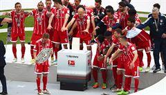 Bayern oslavil titul další hladkým triumfem, Herta schytala debakl a spadl na šesté místo