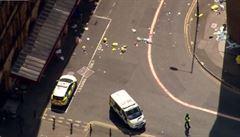 Záběry z dronu. Podívejte se, jak vypadaly ulice Manchesteru pár hodin po útoku