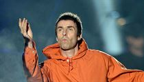 Zpěvák Liam Gallagher na koncertě One Love Manchester.