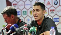 Kapitán Belgie Eden Hazard: Češi jsou slabší než byli, ale chtějí se vrátit zpět