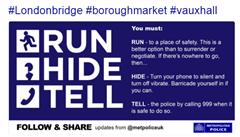 'Uteč, schovej se, varuj.' Londýn prvně otestoval strategii při teroristickém útoku