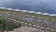 Okraj světa, nebo optický klam? Řeka Daugava nabízí zajímavý pohled