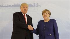 Merkelová jednala s Trumpem o sporných otázkách obchodu a klimatu